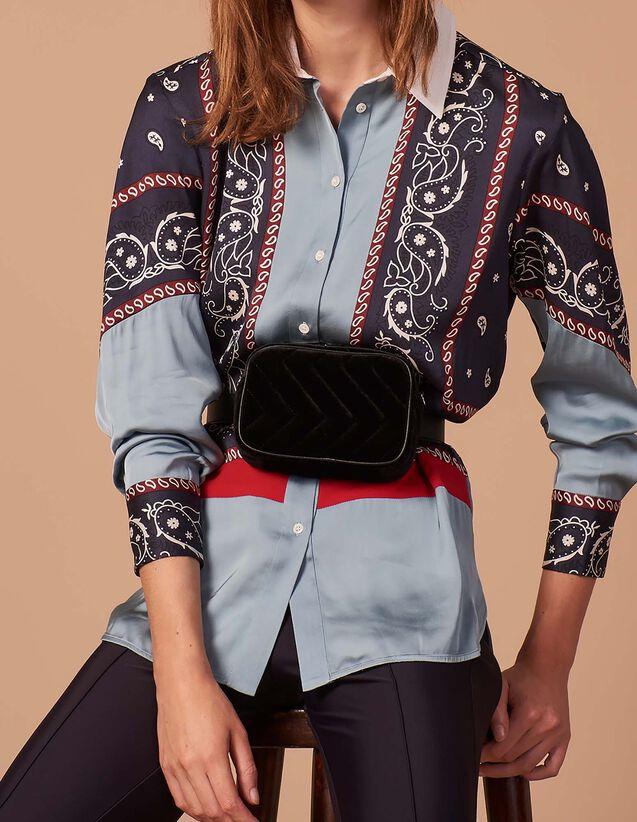 Chemise oversize imprimé foulard   Tops   Chemises couleur Bleu Ciel 568241291dd