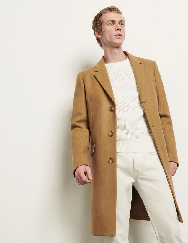 Manteau long fermeture trois boutons : Trenchs & Manteaux couleur Bordeaux