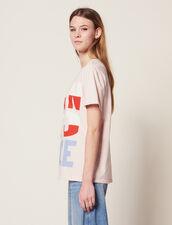 T-Shirt À Message Born To Love : Sélection Last Chance couleur Rose