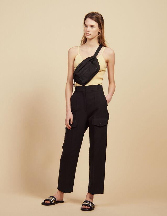 Pantalon Cargo : Pantalons couleur Noir