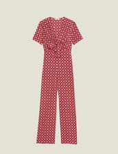 Combi-Pantalon Fluide Imprimée : Sélection Last Chance couleur Rouge