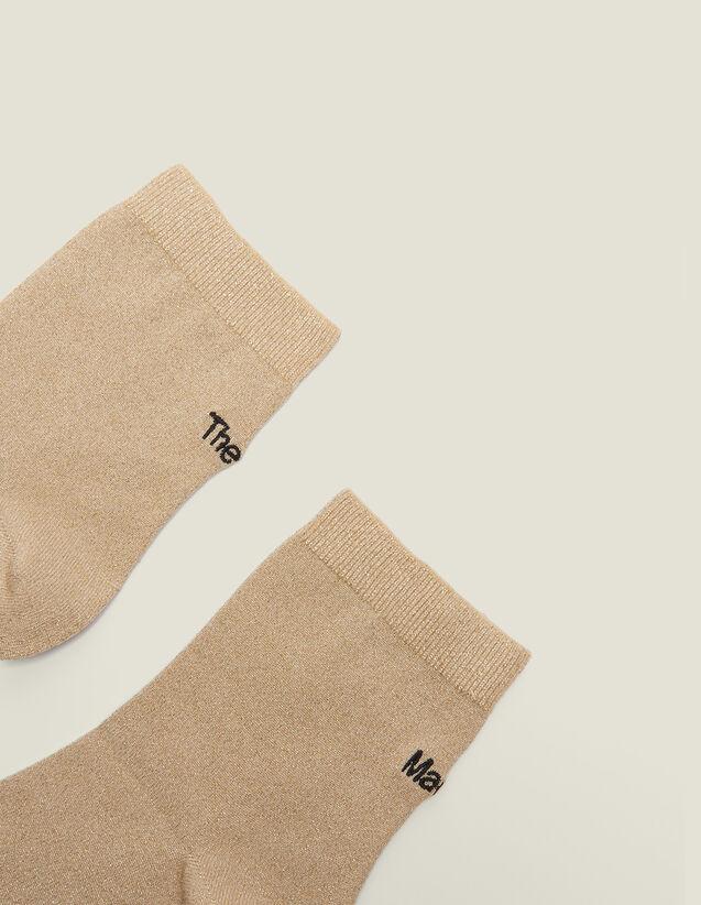 Chaussettes Lurex Avec Broderie : Sélection Last Chance couleur Or