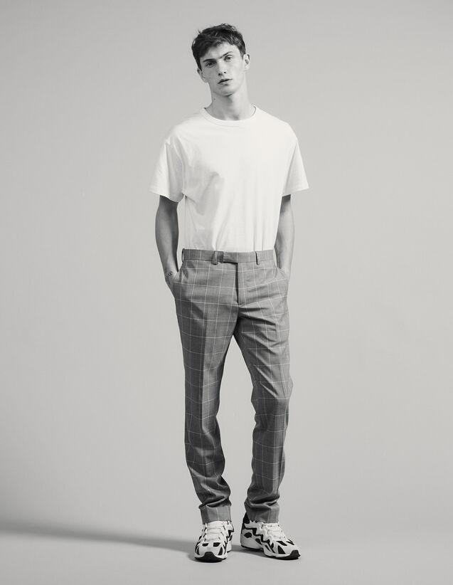 Pantalon De Costume Classique Super 120 : -60% couleur Gris clair