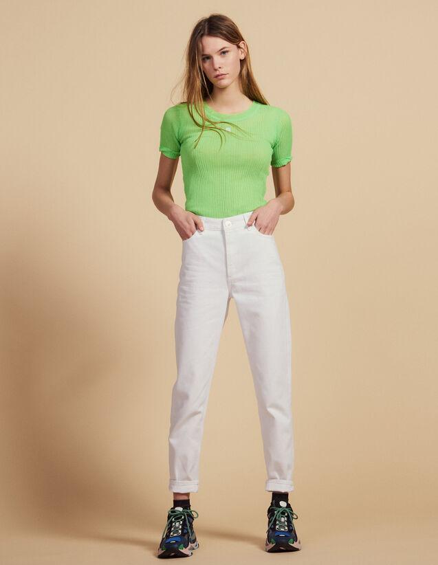 T-Shirt Fluo En Maille : Tops & Chemises couleur Vert fluo