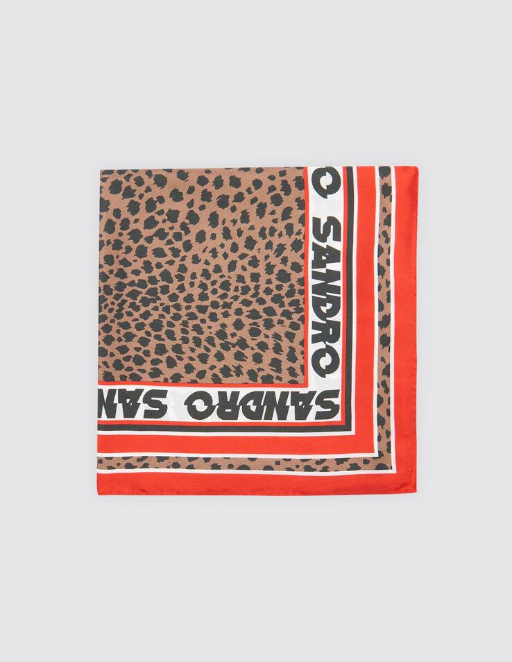 Foulard carré en soie imprimé léopard 3607171391653 - Foulards ... 39d693ddfe7