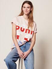 T-Shirt À Message Born To Love : T-shirts couleur Rose