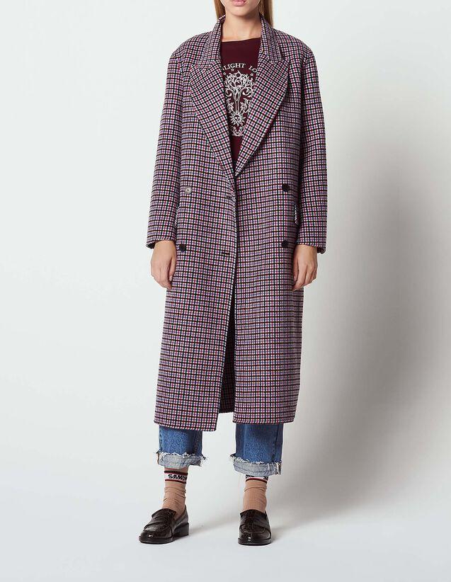 21b2c35e6201 Manteau à carreaux en drap de laine   Blousons   Manteaux couleur  Multicolore