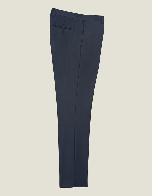 Pantalon De Costume En Laine : Costumes & Smokings couleur Pétrole