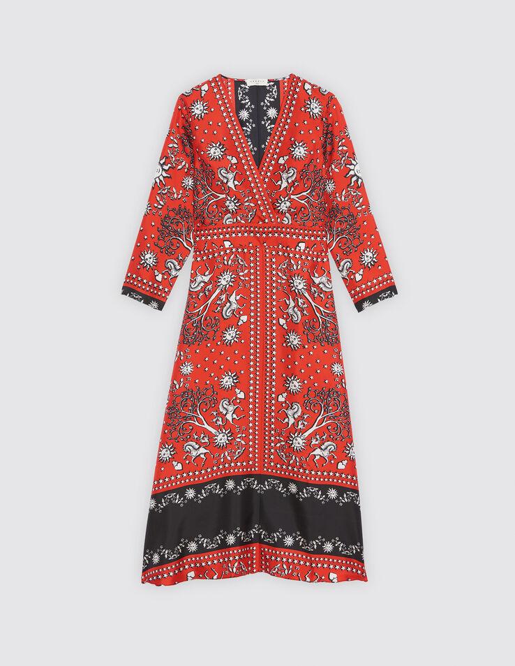 d424517a32d Inhoa. Loading zoom. agrandir l image. Robe droite imprimé foulard   Robes  couleur Rouge ...