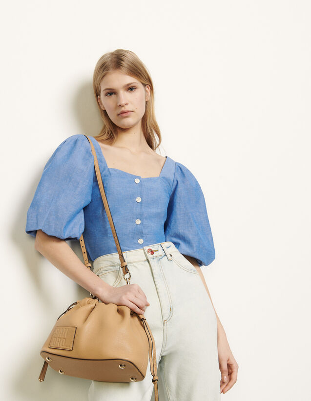 Chemise à manches bouffantes : Cette semaine couleur Bleu