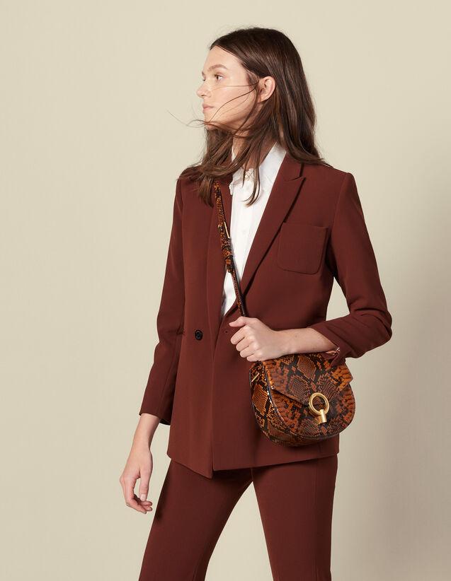 Veste de tailleur double boutonnage : Blousons & Vestes couleur Tabac