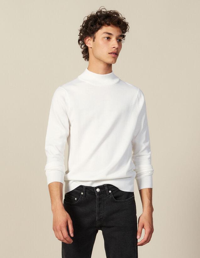 Pull À Col Cheminée : Pulls & Cardigans couleur Ecru