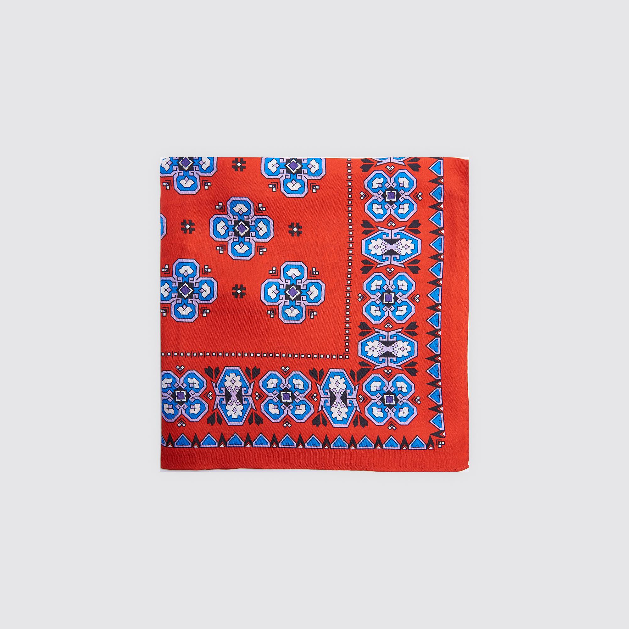 Foulard carré en soie imprimée   Exclusivité ... 76e0801c23e