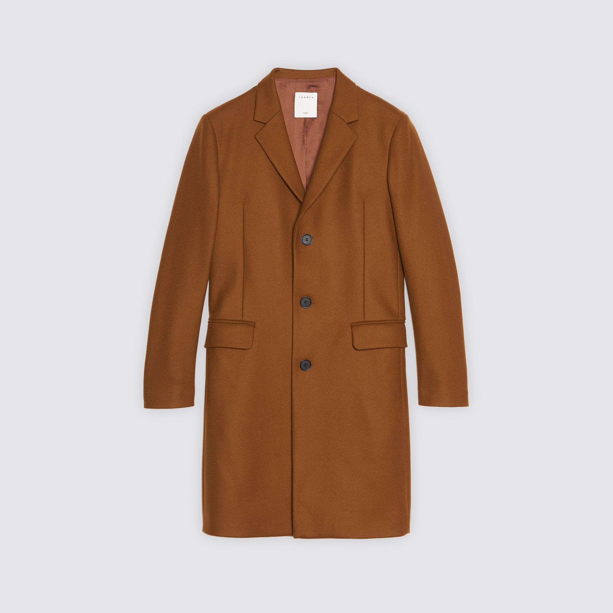 Manteau femme couleur cognac