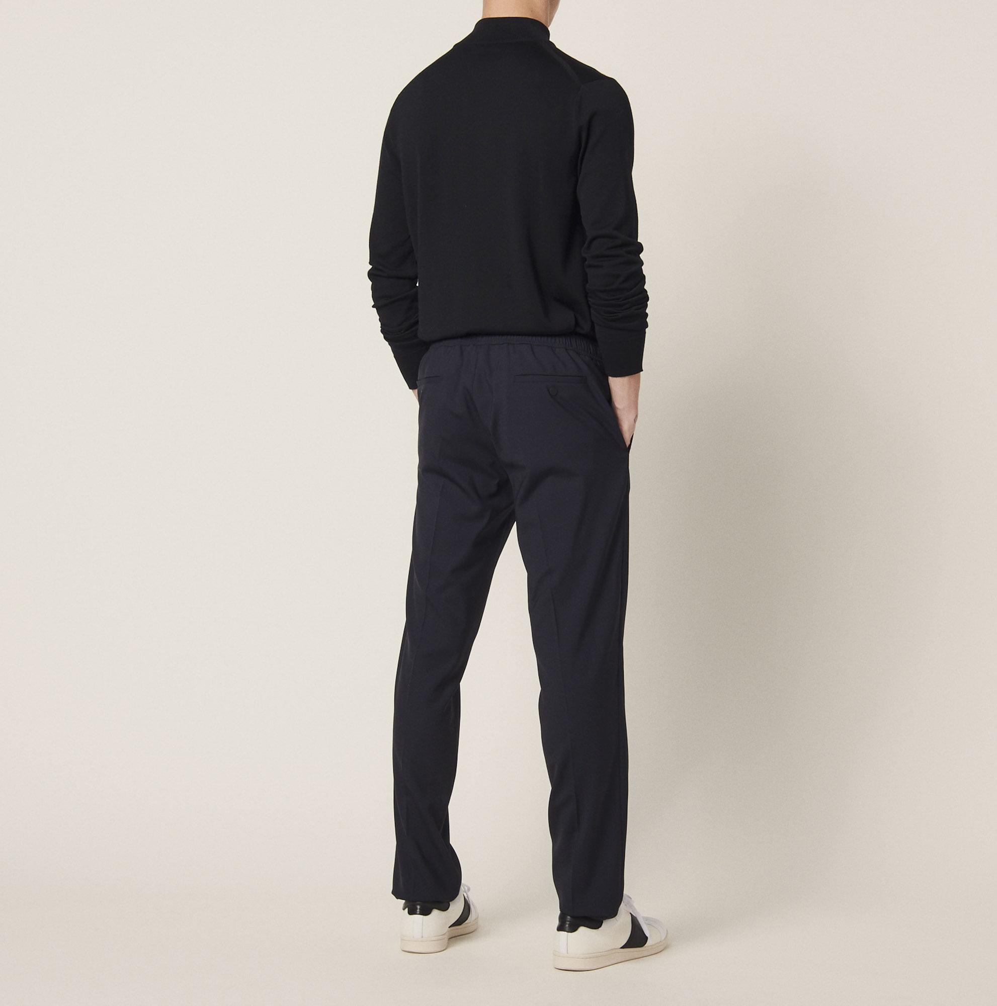 pantalon de ville ceintur d un cordon p6062w pantalons. Black Bedroom Furniture Sets. Home Design Ideas
