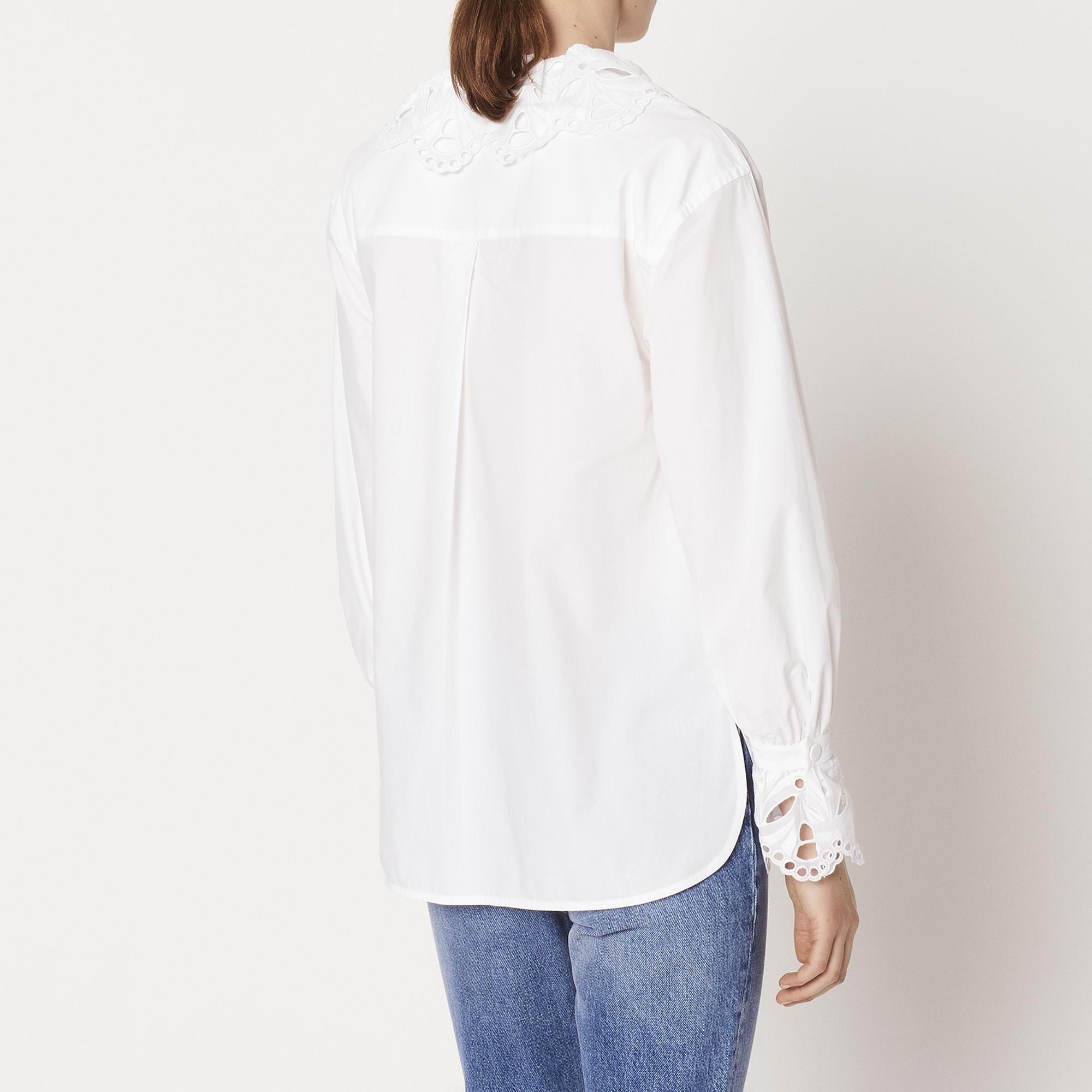 chemise col en broderie anglaise c11471h tops. Black Bedroom Furniture Sets. Home Design Ideas