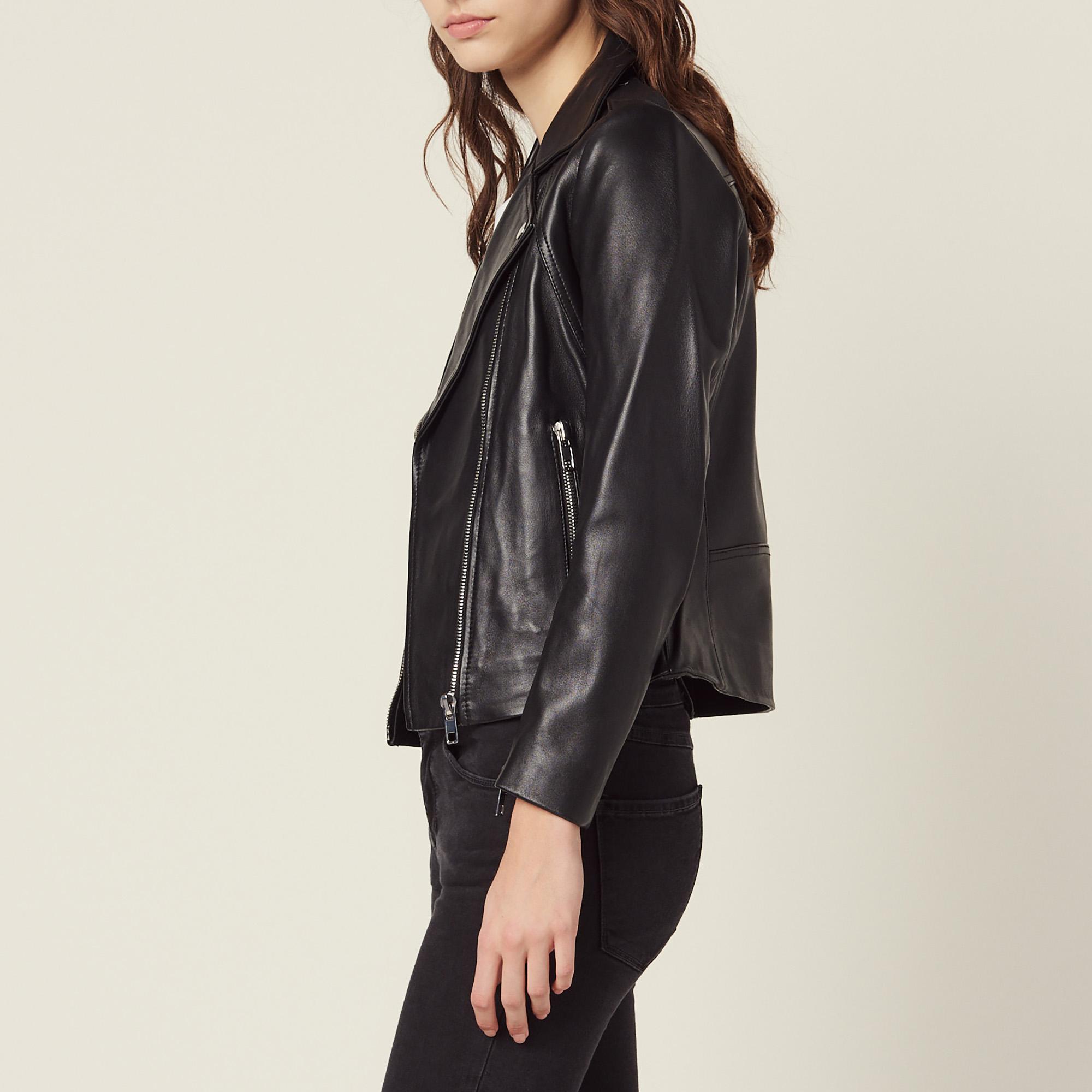 198db353a1 ... couleur Noir · Blouson biker en cuir : Blousons & Vestes couleur ...