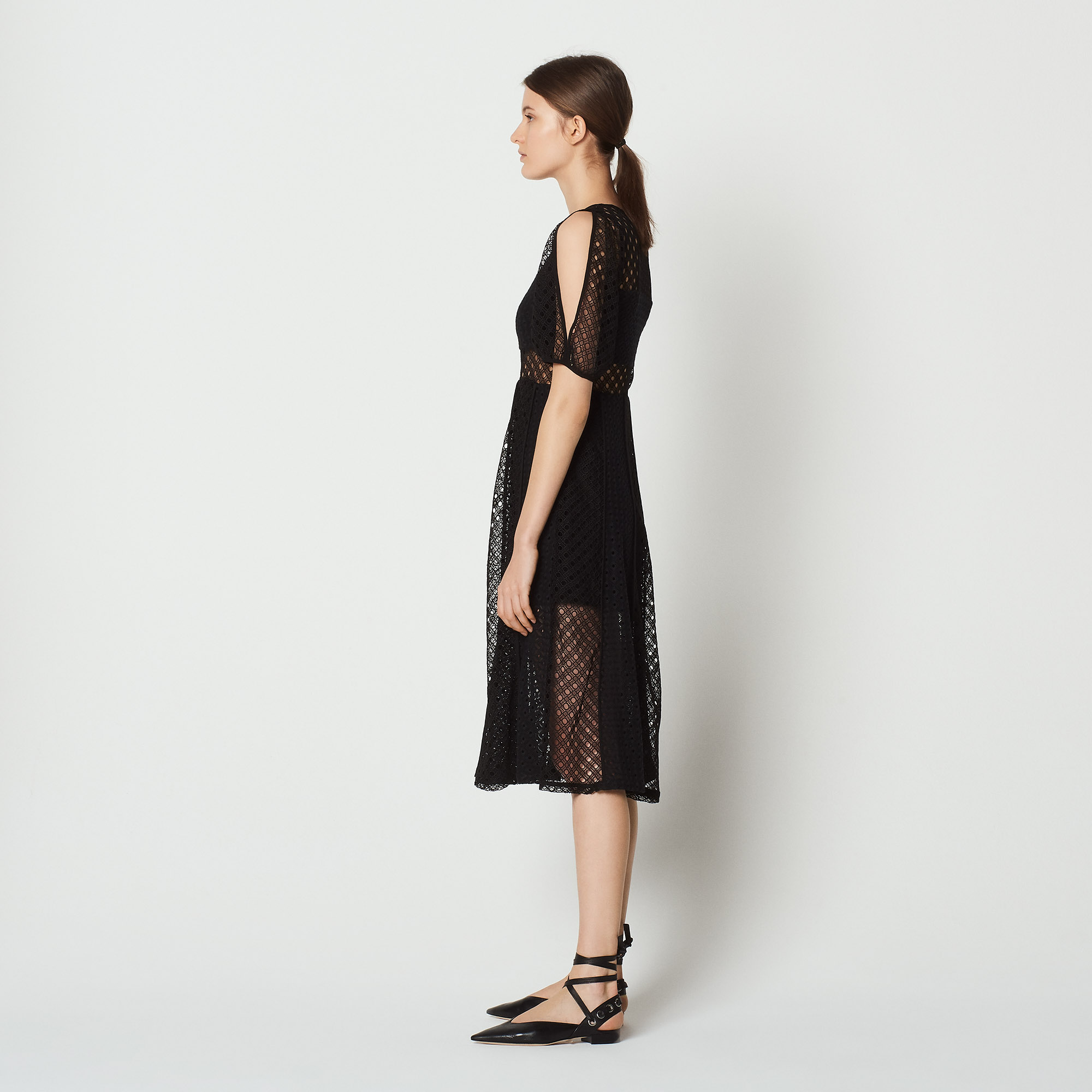 sandro MALIA - Robe longue - noir Vente Excellente gepZJmC