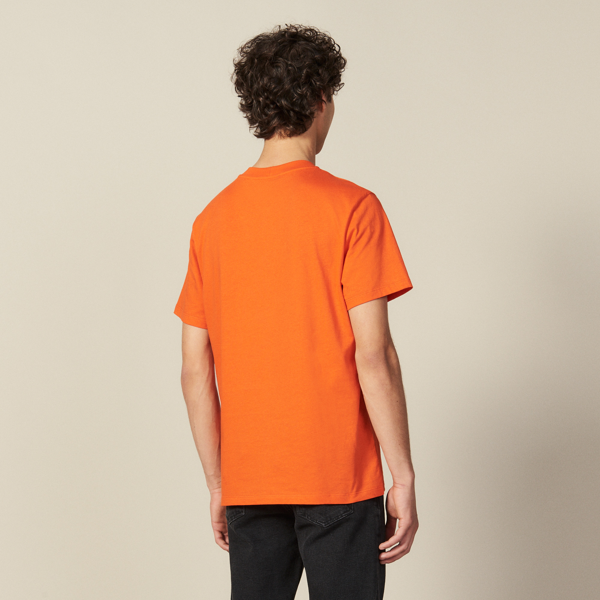 t shirt en coton shpts00242 orange collection hiver. Black Bedroom Furniture Sets. Home Design Ideas