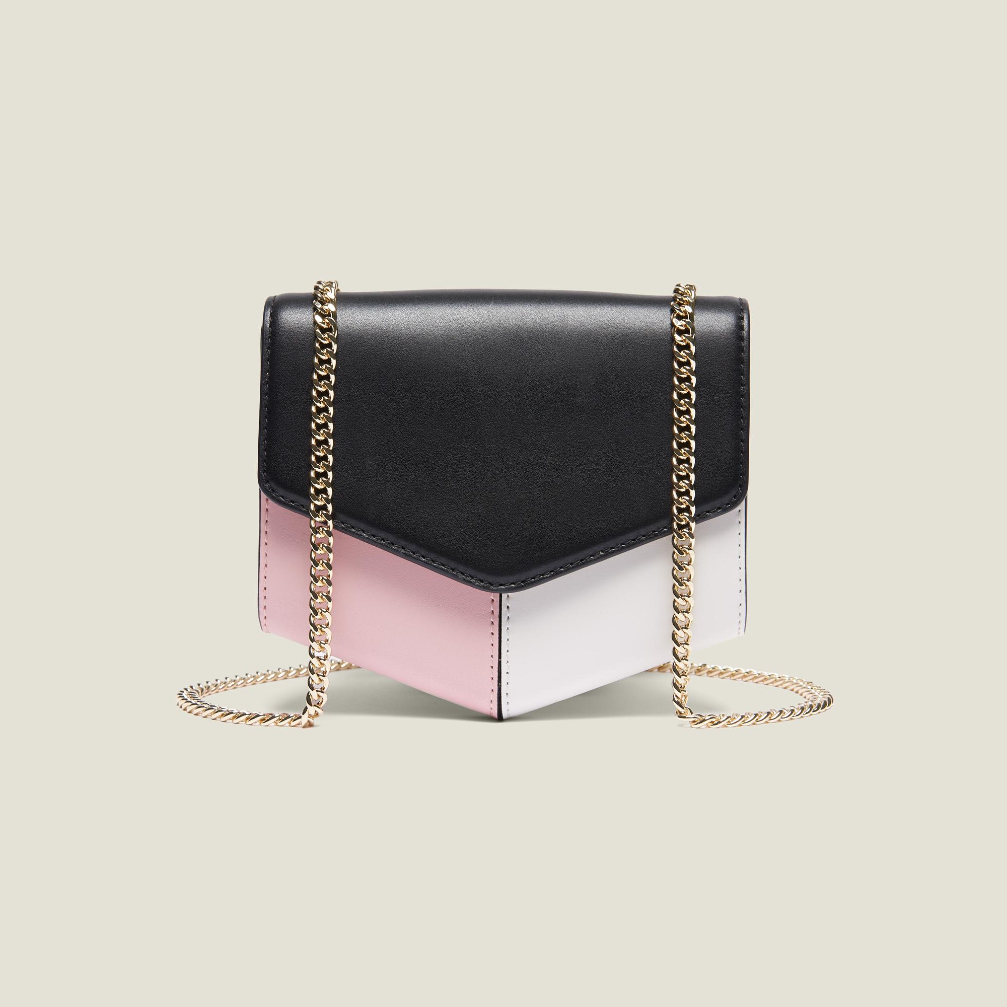 b4d773be90 ... Sac Lou Petit Modèle : My Lou Bag couleur Noir/Blanc/Pivoine ...