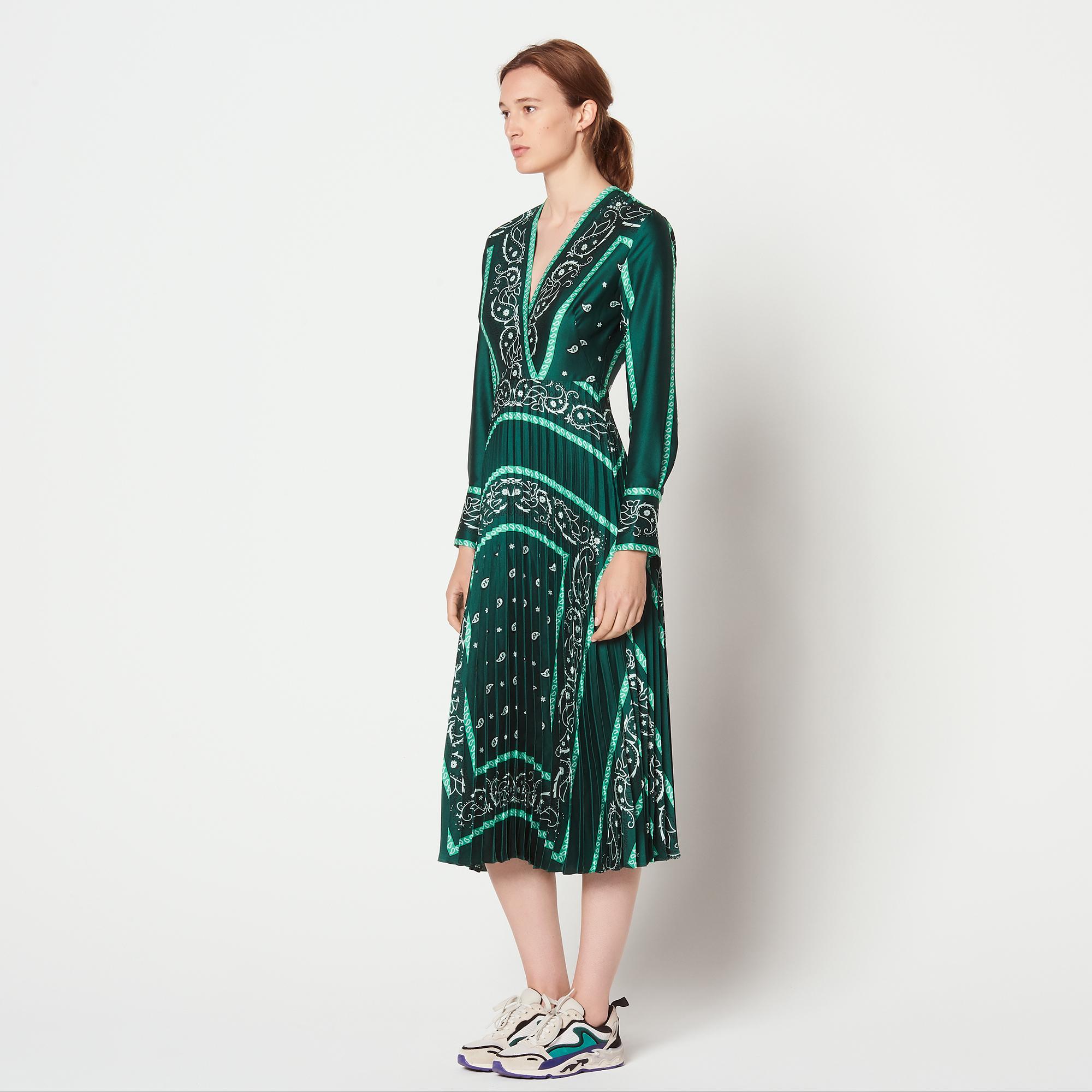 Robe longue verte sandro