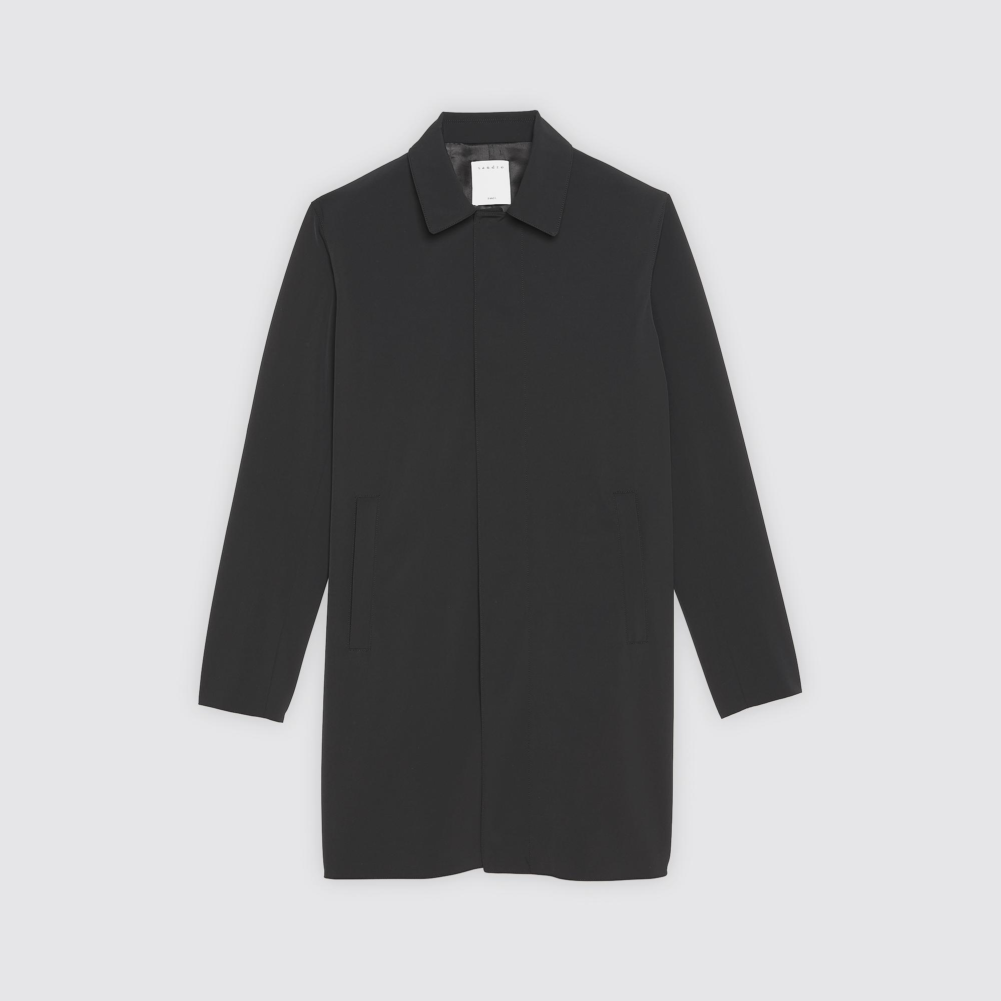Imperméable En Couleur Tissu amp; Blousons Manteaux Noir Technique RnZawqp