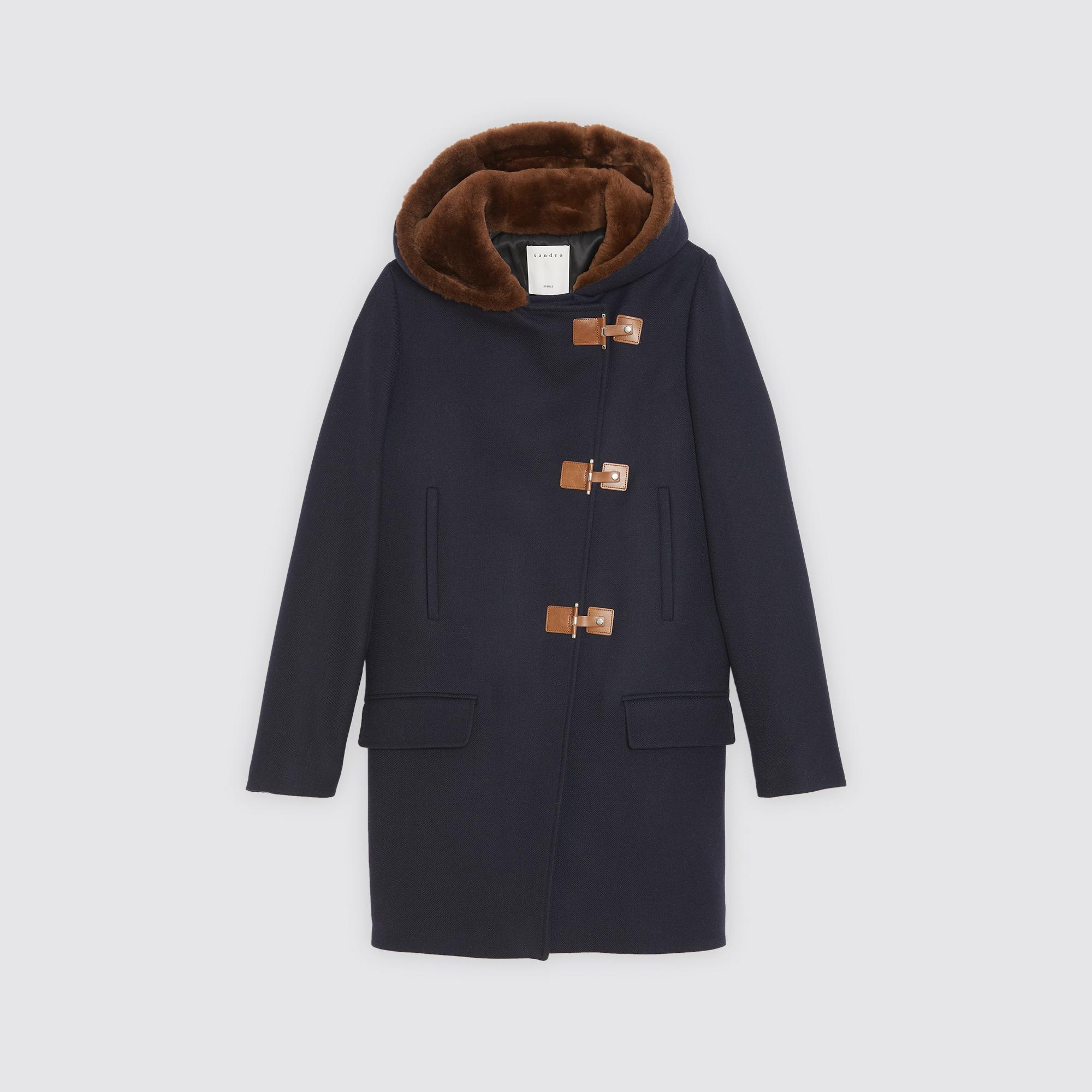Duffle Laine Style Sandro Coat M9739h En Paris Manteau t1PwFt