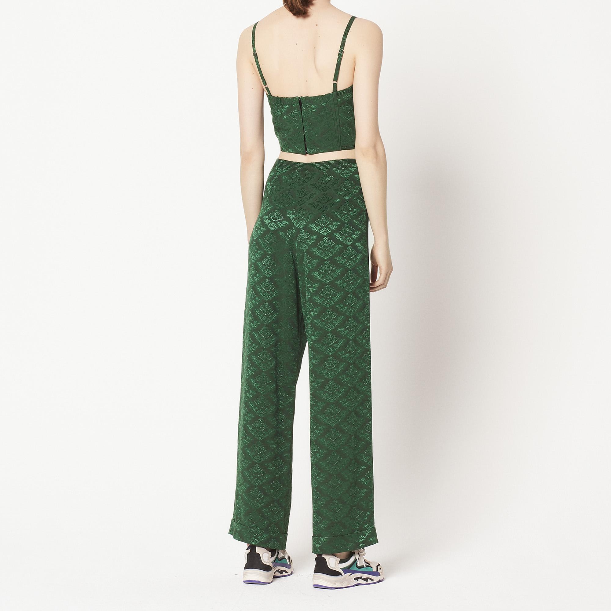 Haute Pantalon En Taille Jacquard Fluide n0X8PkOw