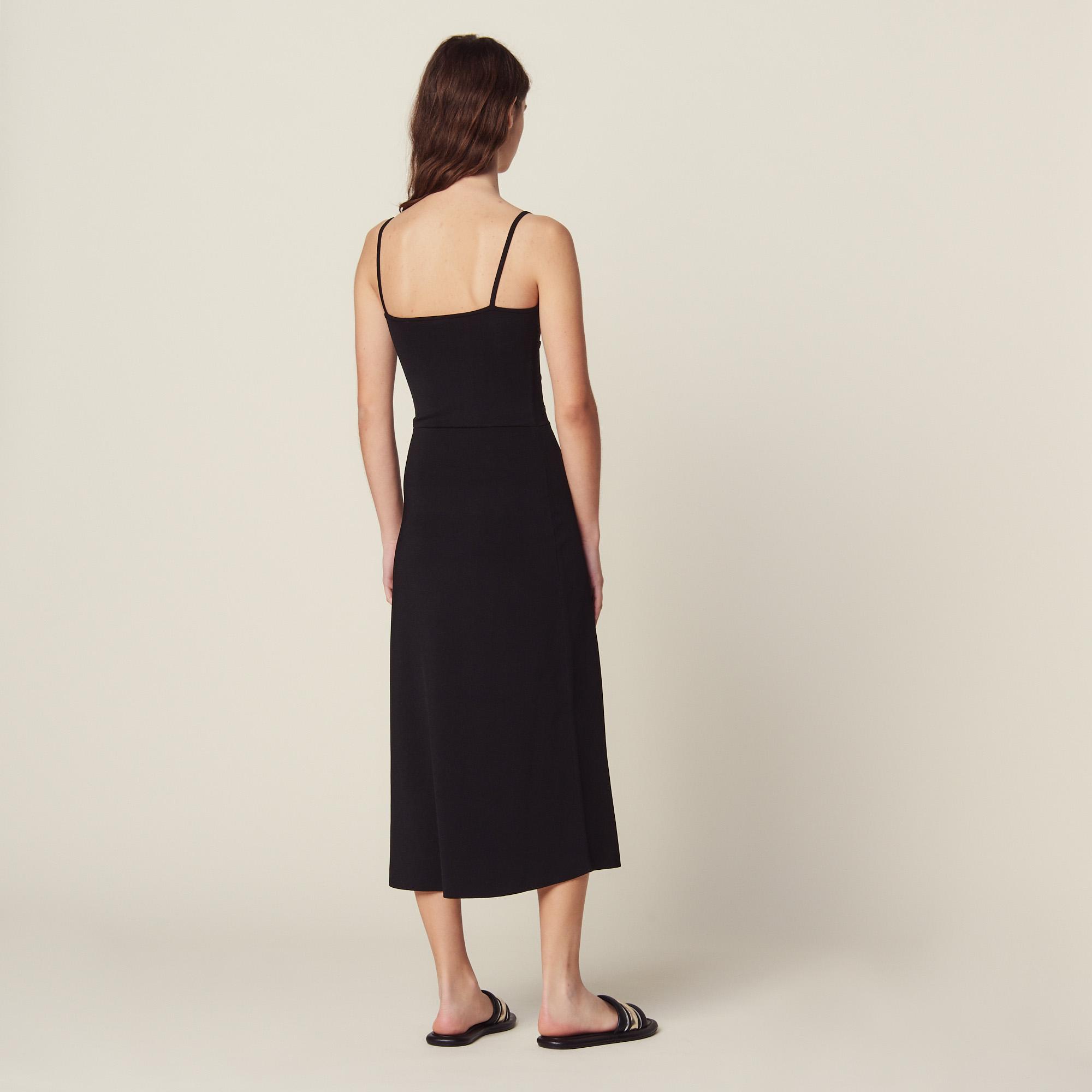 invaincu x lacer dans correspondant en couleur Robe Midi En Maille À Fines Bretelles