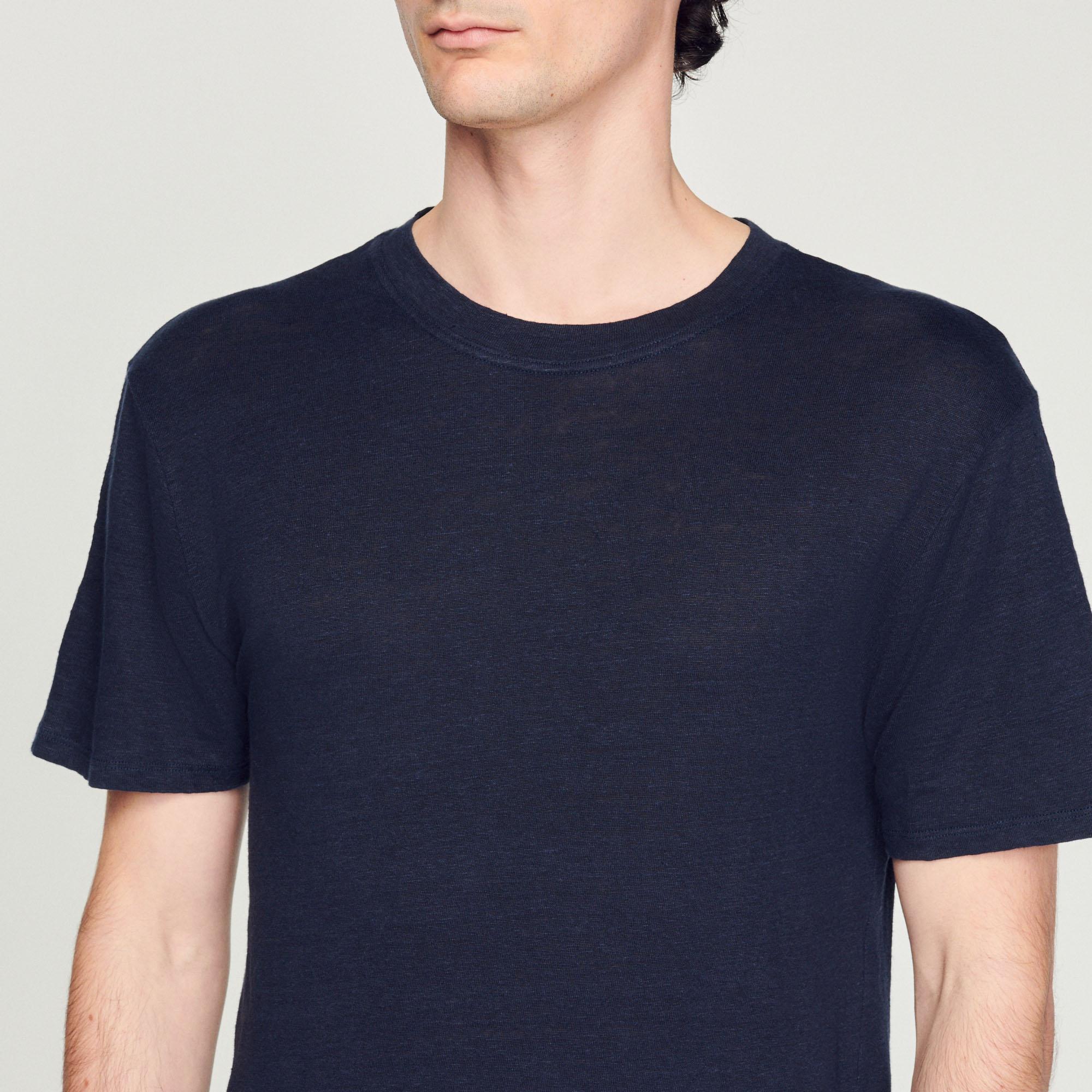 t shirt en lin shpts00222 marine t shirts polos. Black Bedroom Furniture Sets. Home Design Ideas