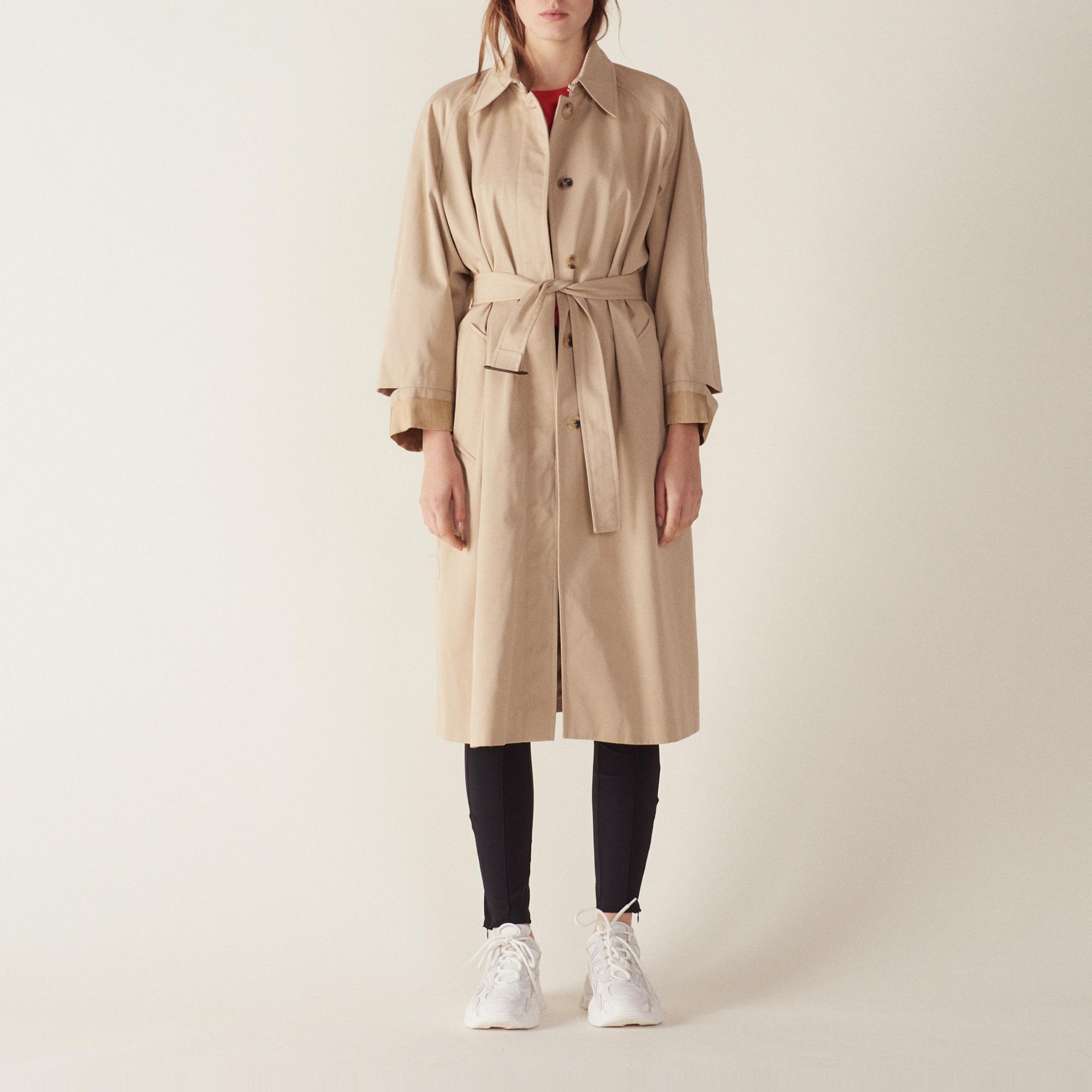 a50822c319bb ... Manteau long esprit trench coat   Manteaux couleur Beige ...