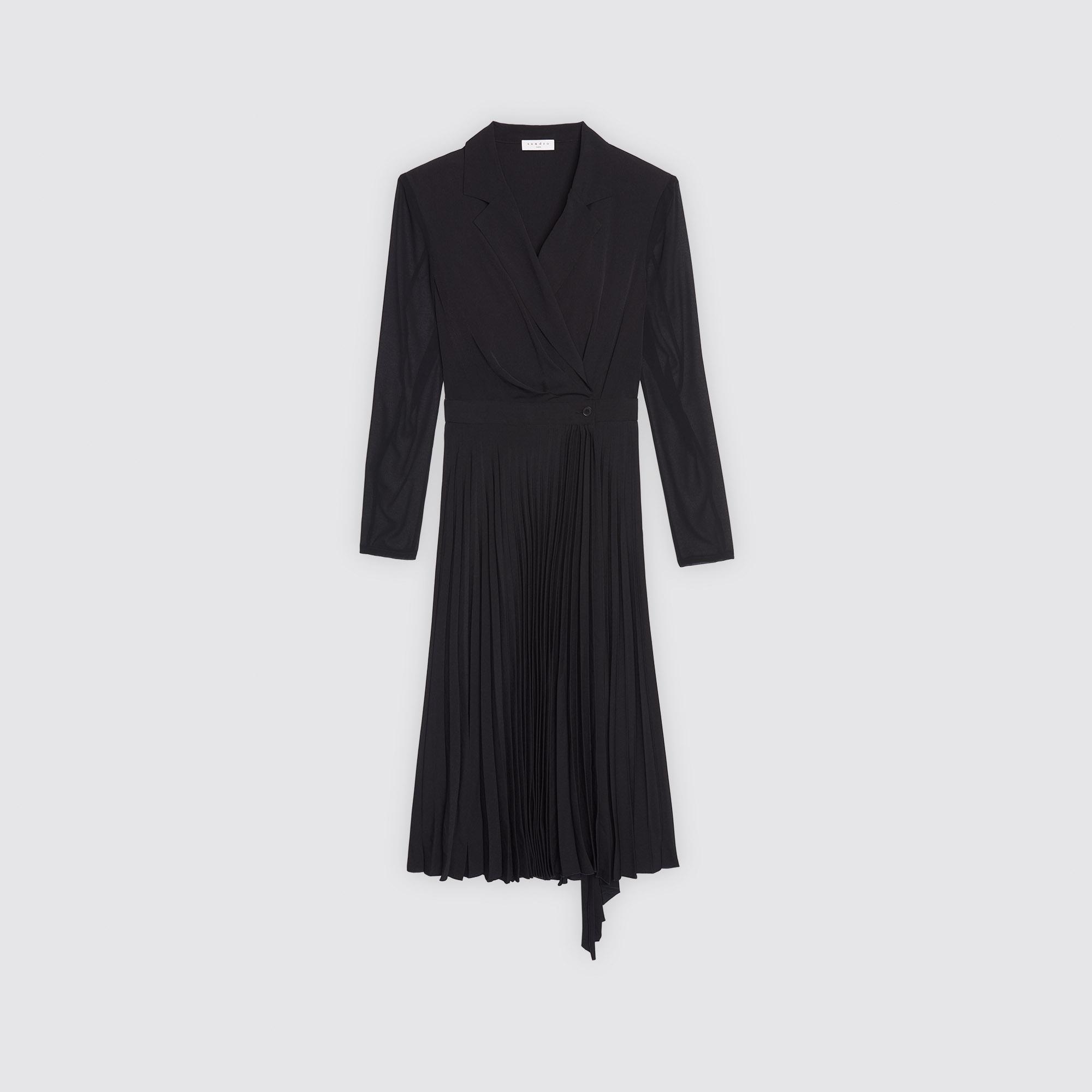 Robe Bimatière R20201h Longues Manches À Paris Robes Sandro Twrq4TcH